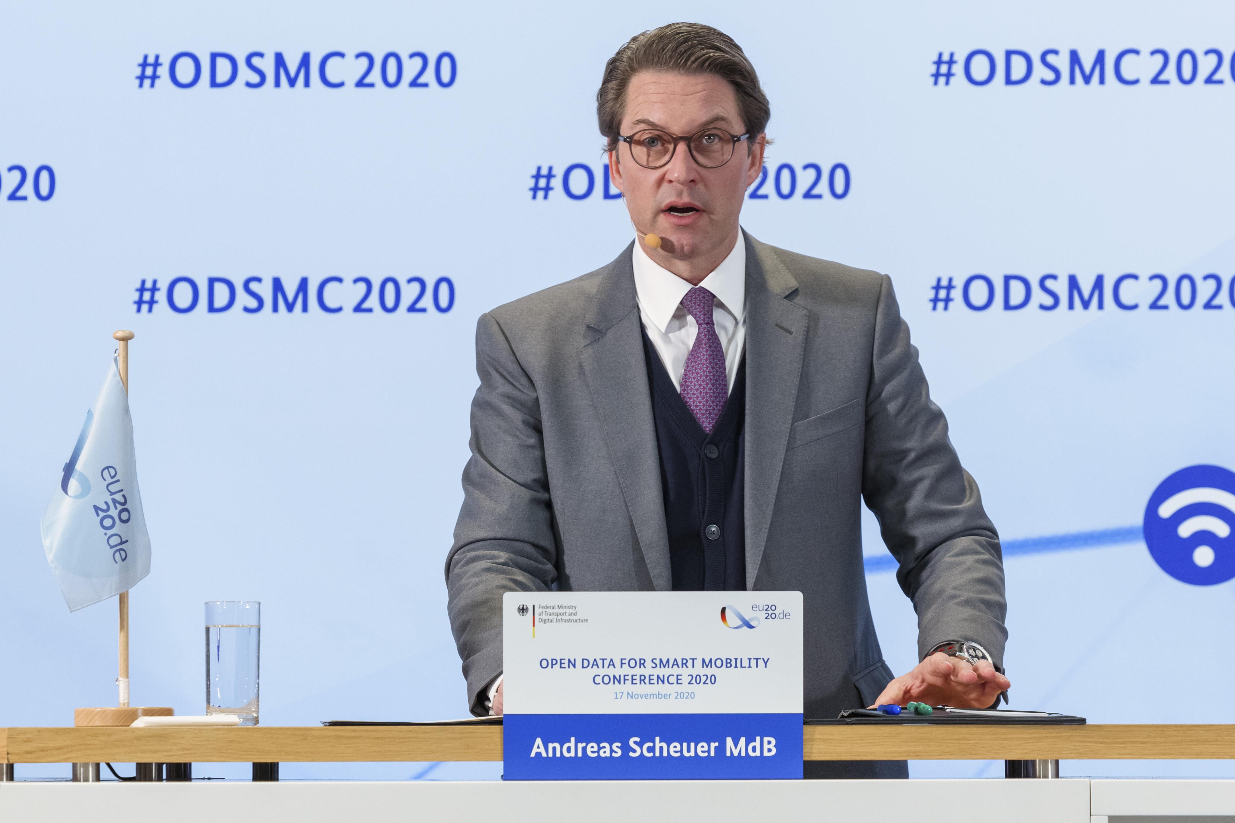 Bundesminister Andreas Scheuer bei seiner Eröffnungsrede zur ODSMC