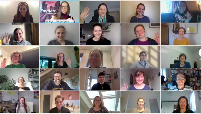 Momentaufnahme von Teilnehmer*innen während der Online-Veranstaltung