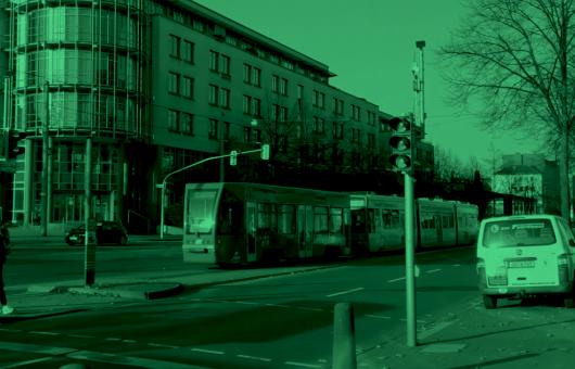 Strassenkreuzung mit RSU in Kassel var