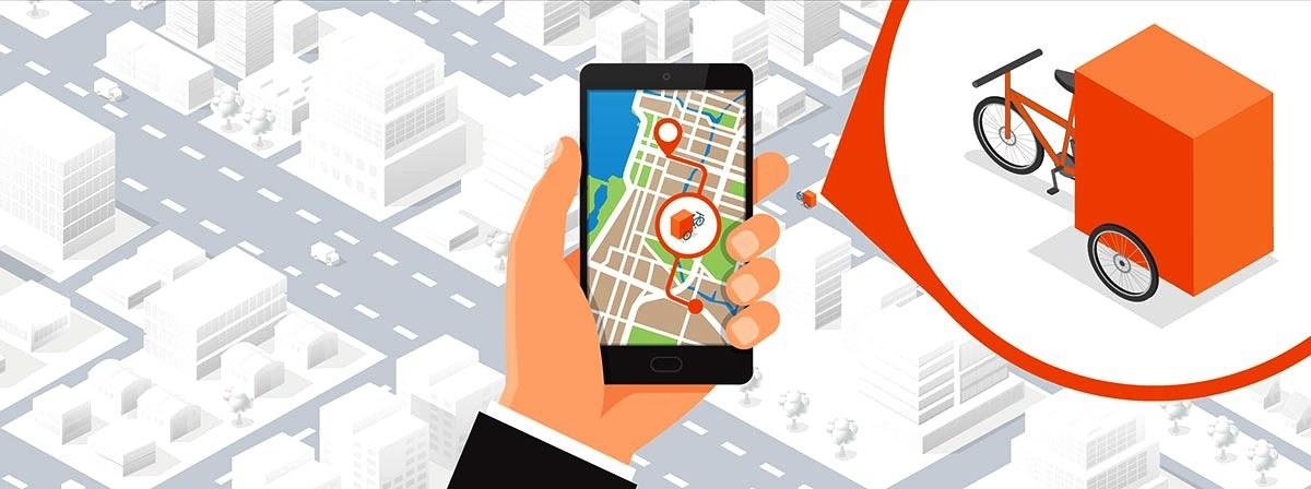 Die SmartRadl-App berücksichtigt für ihre Navigationshinweise die besonderen Anforderungen für Lastenradfahrten.